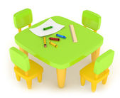 Kiddie Table — Stock Photo