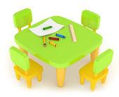 Kiddie Table — Stock Photo