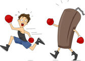 Punching Bag Revenge — Stock Photo