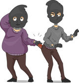 Funny Robbers — Stock Photo