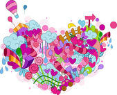 Heart Doodle — Stock Photo