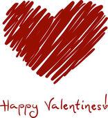 Valentine Sketch — Stock Photo