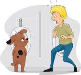 Funny Dog Peeing — Stockfoto