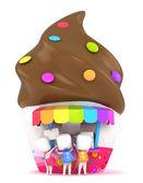 Kids Buying Ice Cream — Stock Photo