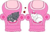 Katt romantik — Stockfoto