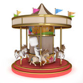 Man Carousel — Stock Photo