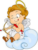 Baby Cupid Preparing to Shoot — Foto Stock