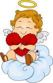 Baby амур подушка — Стоковое фото