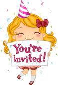Birthday Invitation — Stock Photo