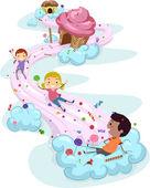 Niños de tierra de caramelo — Foto de Stock