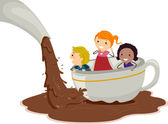 Chocolate Pond — Stock Photo