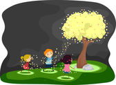 Firefly Tree — Stock Photo