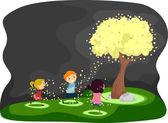Firefly Tree — Stock Photo