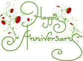 Happy Anniversary Text — Stock Photo