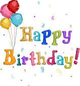 Happy Birthday Text — Stock Photo