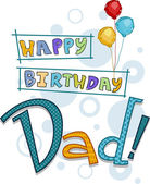Dad Birthday — Stock Photo