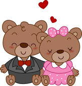 Bear Couple — Stock Photo
