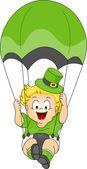 Baby Parachuting — Stock Photo