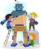 Robotics Kids — Stock Photo