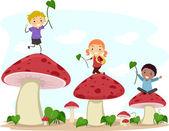 Mushroom Hopping — Stock Photo