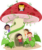 Mushroom House — Stock Photo