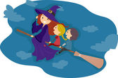 Broomstick Ride — Stock Photo