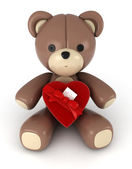 Valentine Bear — Stock Photo