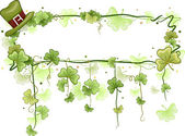 Shamrock Vine Frame — Stock Photo