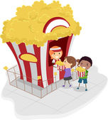 Popcorn Stand — Stock Photo