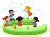 Bubble Kids — Stock Photo