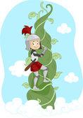Knight Climbing Vine — Stock Photo