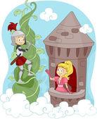 Knight Rescuing Princess — Stock Photo