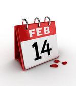 14 februari — Stockfoto
