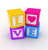 Love Blocks — Stock Photo