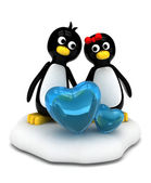 Penguin Couple — Stock Photo