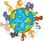 Mundo de animais — Foto Stock