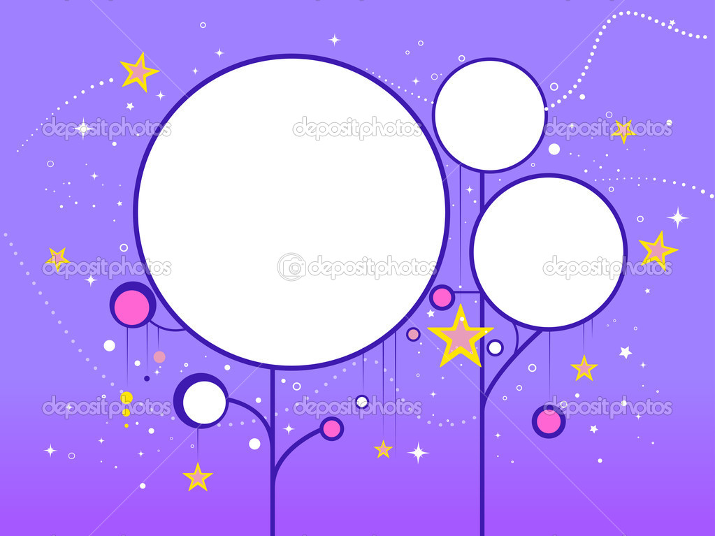 Illustration of a Circular Frame Featuring a Starry Background  Stock Photo #7474803