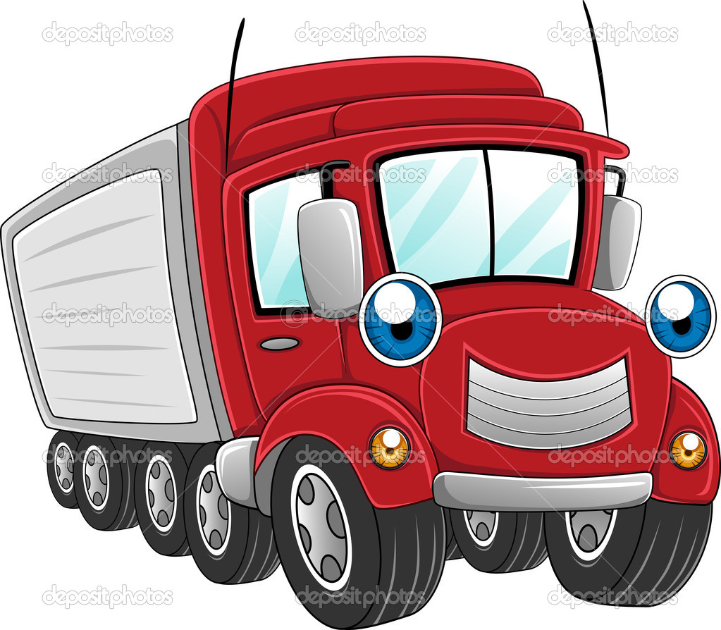 Illustration of a Trailer Truck at Work — Stock Photo #7474942