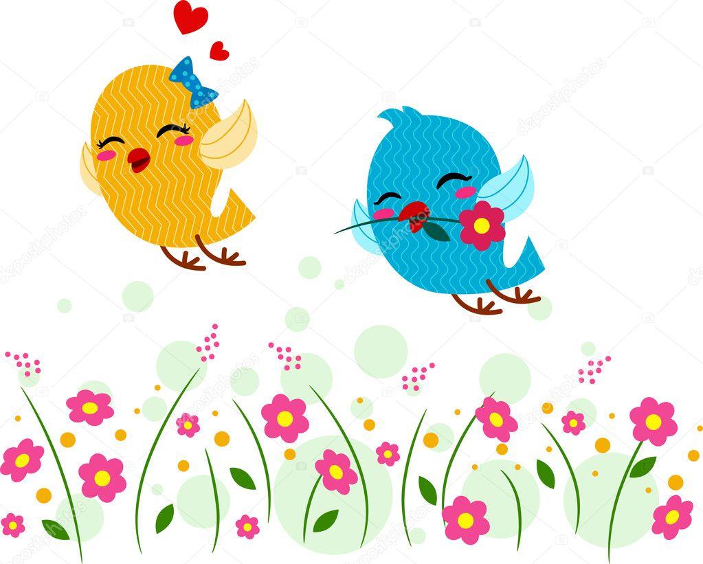 Влюбленных, играя в саду – Стоковое ...: ru.depositphotos.com/7475107/stock-photo-lovebirds-playing-in-a...
