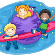Kids Outer Space — Stock Photo