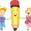 Stock Photo: Kids Pencil