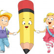 Kids Pencil — Stock Photo