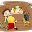 Kids in a Tree House — Stock Photo
