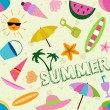Seamless Summer Design — Stockfoto