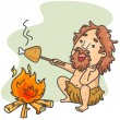 Caveman Cook — Stock Photo