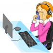 Call Center Agent — Stock Photo