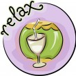 Relaxation Icon — Stock Photo