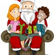 Stock Photo: Kids and Santa