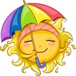 Sun Holding Umbrella — Stock Photo