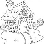 Line Art Gingerbread House — Stock Photo #7599730